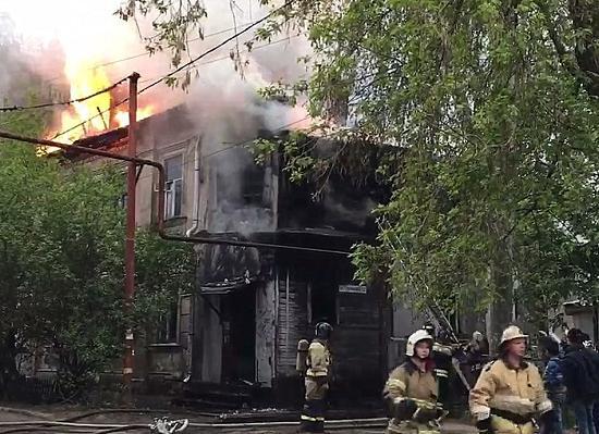 Нежилой дом сгорел приблизительно из-за поджога вцентре Нижнего Новгорода 18мая