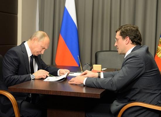Владимир Путин поддержал предложенный Глебом Никитиным проект стратегической специализации Нижегородской области