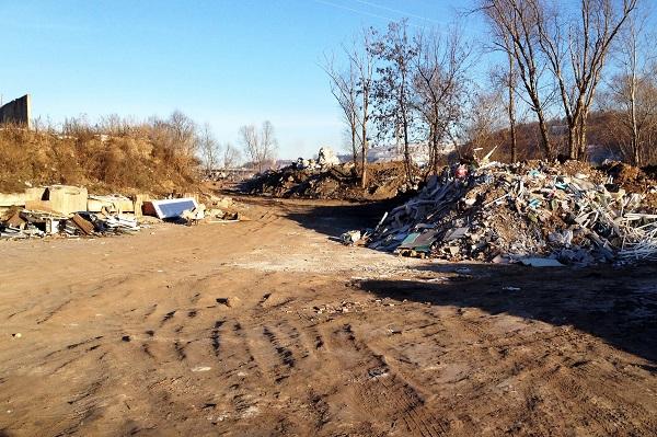 Рядом спивзаводом вНижнем Новгороде обнаружили свалку